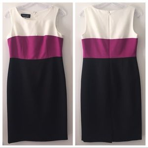 Black Label by Evan Picone Colorblock Sheath Dress